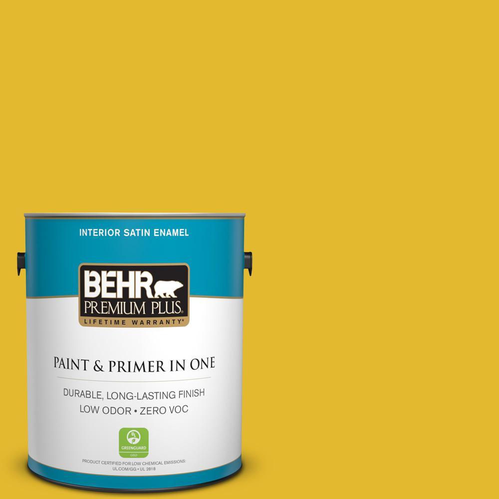 BEHR Premium Plus 1 gal. #P310-7 Solarium Satin Enamel Zero VOC ...