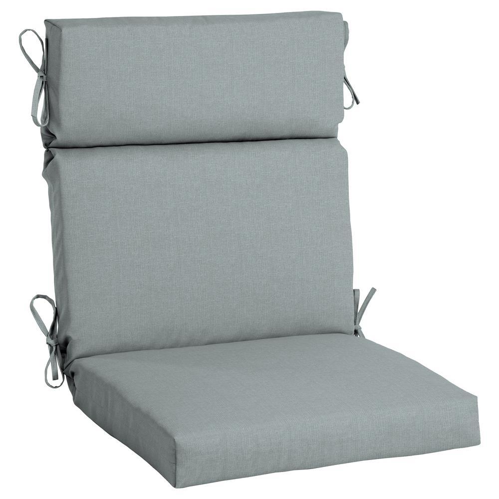 21.5 x 44 Sunbrella Cast Mist High Back Outdoor Dining Chair Cushion