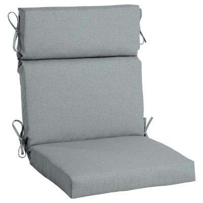 Sunbrella Cast Mist High Back Outdoor Dining Chair Cushion