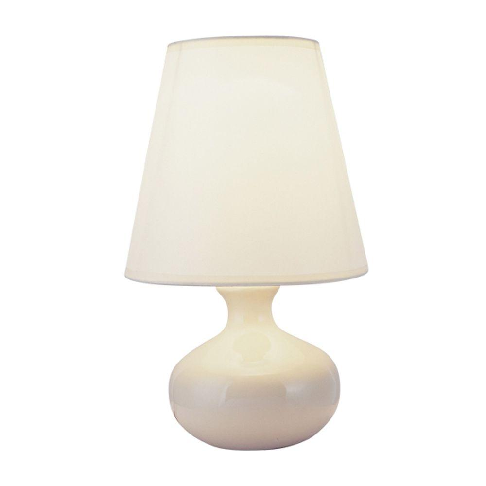 Ore International 12 In Ceramic Ivory Table Lamp 625 The Home Depot
