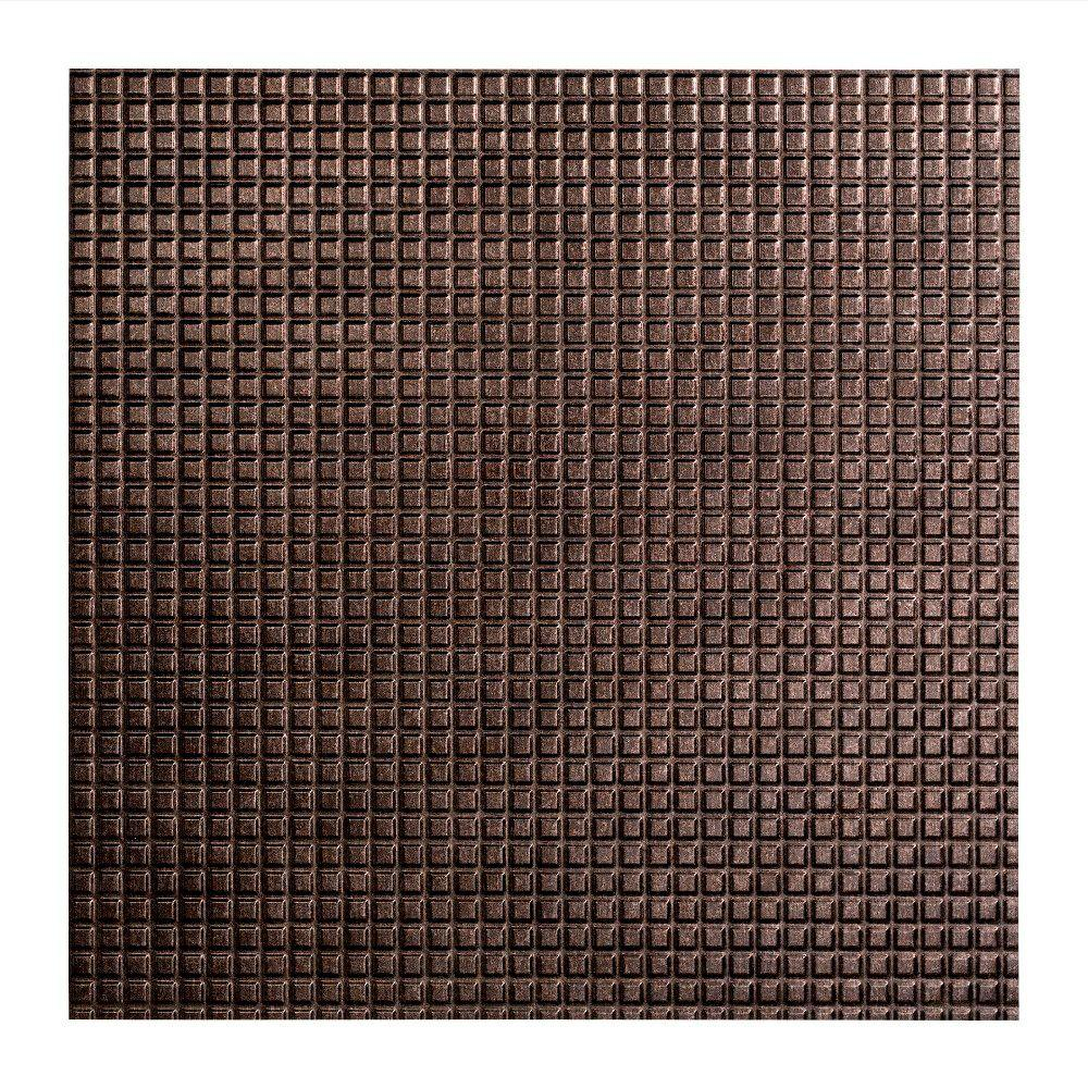 Fasade Square - 2 ft. x 2 ft. Lay-in Ceiling Tile in Smoked Pewter