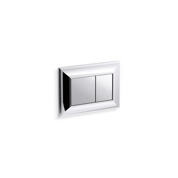 Memoirs Flush Actuator Plate for In-Wall Tank and Carrier System in Polished Chrome