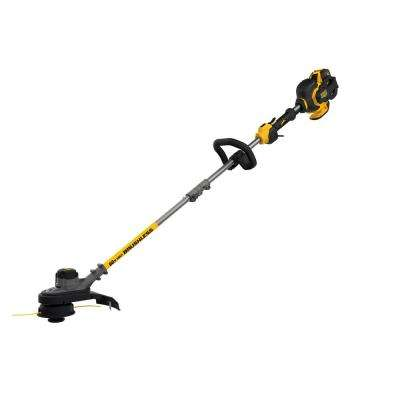 60-Volt MAX Lithium-Ion Cordless FLEXVOLT Brushless 15 in. String Grass Trimmer w/ 3.0Ah Battery and Charger