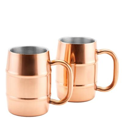 KeepKool DuraCopper 16.9 oz. Double Walled Stainless Steel Mugs (Set of 2)