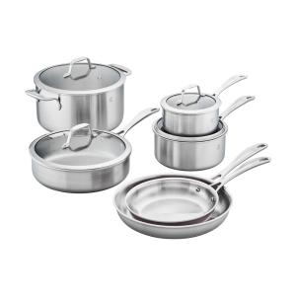Spirit 10-Piece Stainless Steel Cookware Set