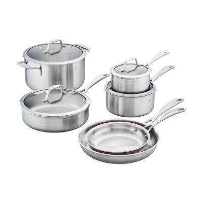 Zwilling Spirit 10-Piece 3-Ply Stainless Steel Cookware Set