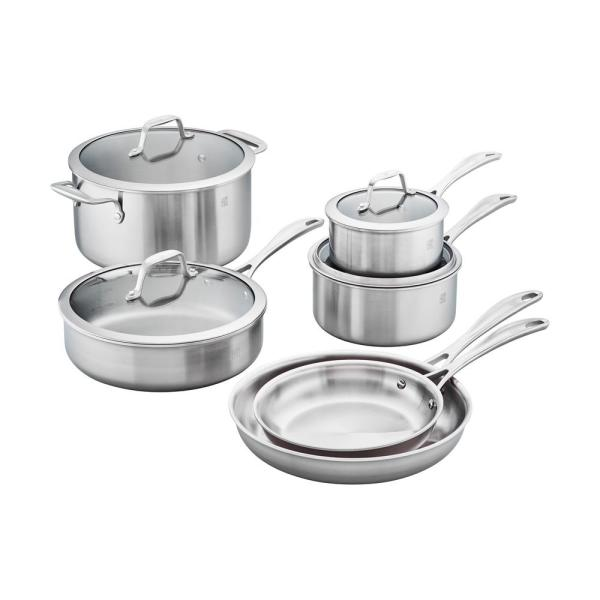 Spirit 10-Piece Stainless Steel Cookware Set