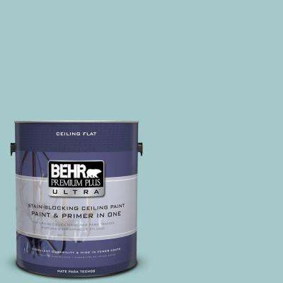 1 gal. #PPU13-10 Ceiling Tinted to Ocean Boulevard Flat Interior Paint and Primer in One