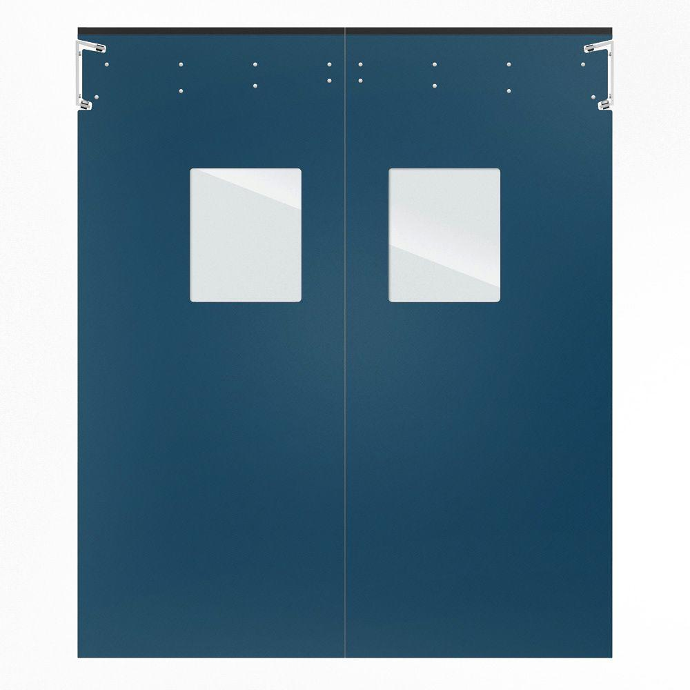 Aleco ImpacDor Optima 1/4 in. x 60 in. x 96 in. Single-Ply Blue Impact Door
