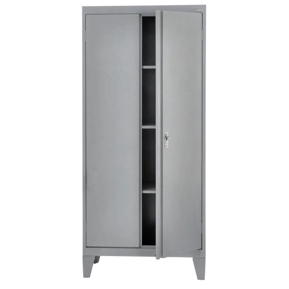 79 in. H x 36 in. W x 18 in. D Freestanding Steel Cabinet in Multi Granite
