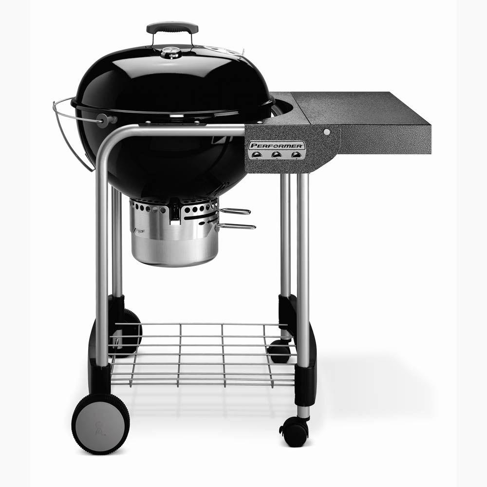 Weber Performer Silver 22-1/2 in. Charcoal Grill in Black