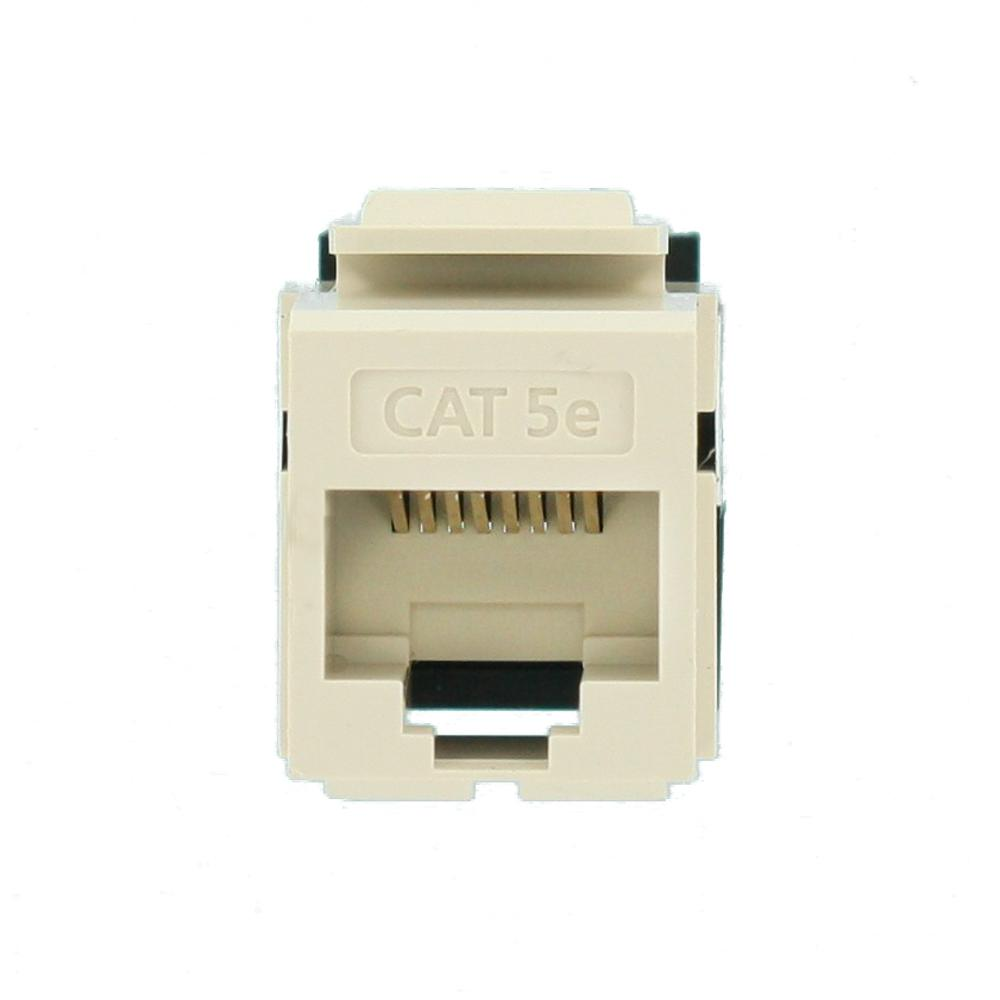 Ivory Leviton 5G108-BI5 Category 5e QuickPort Snap-In Connector