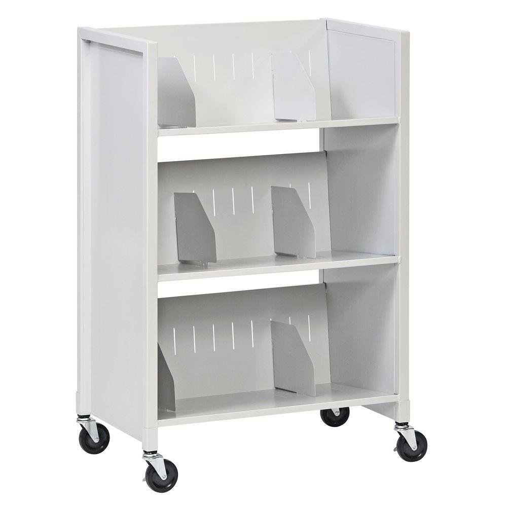 Buddy Products 26 in. W 3-Tier Medical File Folder Cart