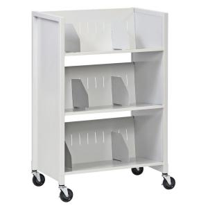 Buddy Products 26 inch W 3-Tier Medical File Folder Cart by Buddy Products