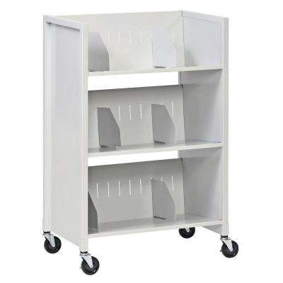 26 in. W 3-Tier Medical File Folder Cart