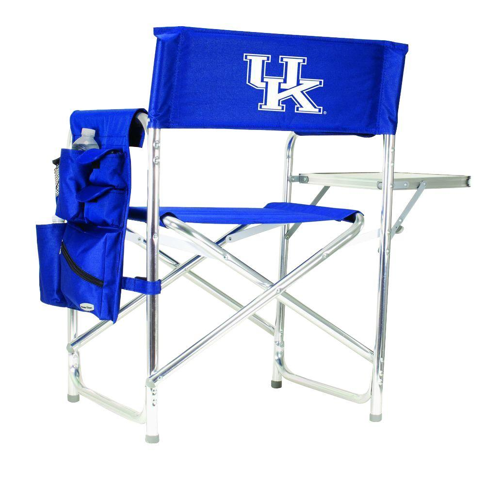 Picnic Time University of Kentucky Navy Sports Chair with Embroidered Logo