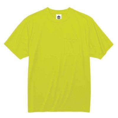 GloWear 5XL Hi Vis Lime Polyester Short Sleeved Pocket T-Shirt