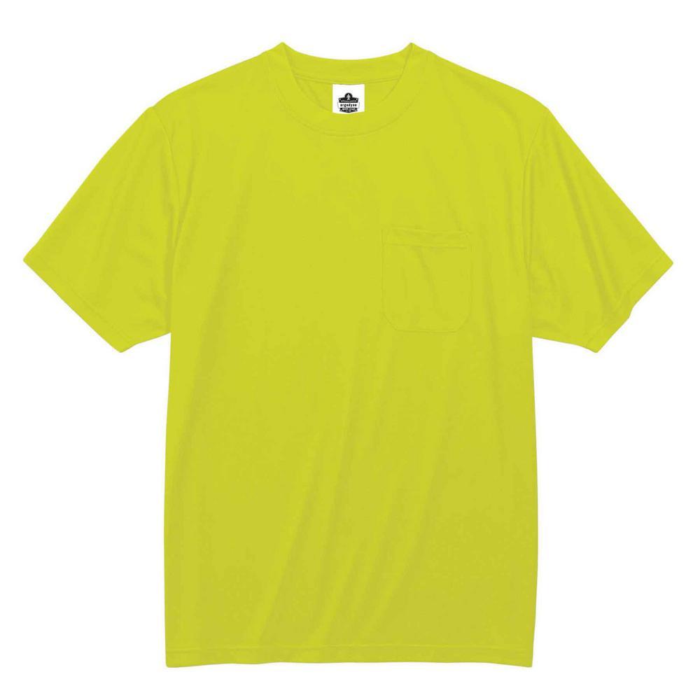 GloWear 5XL Hi Vis Lime Polyester Short Sleeved Pocket T-Shirt
