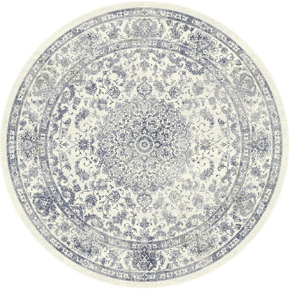 Ancient Garden Cream Medallion 8 ft. Round Area Rug