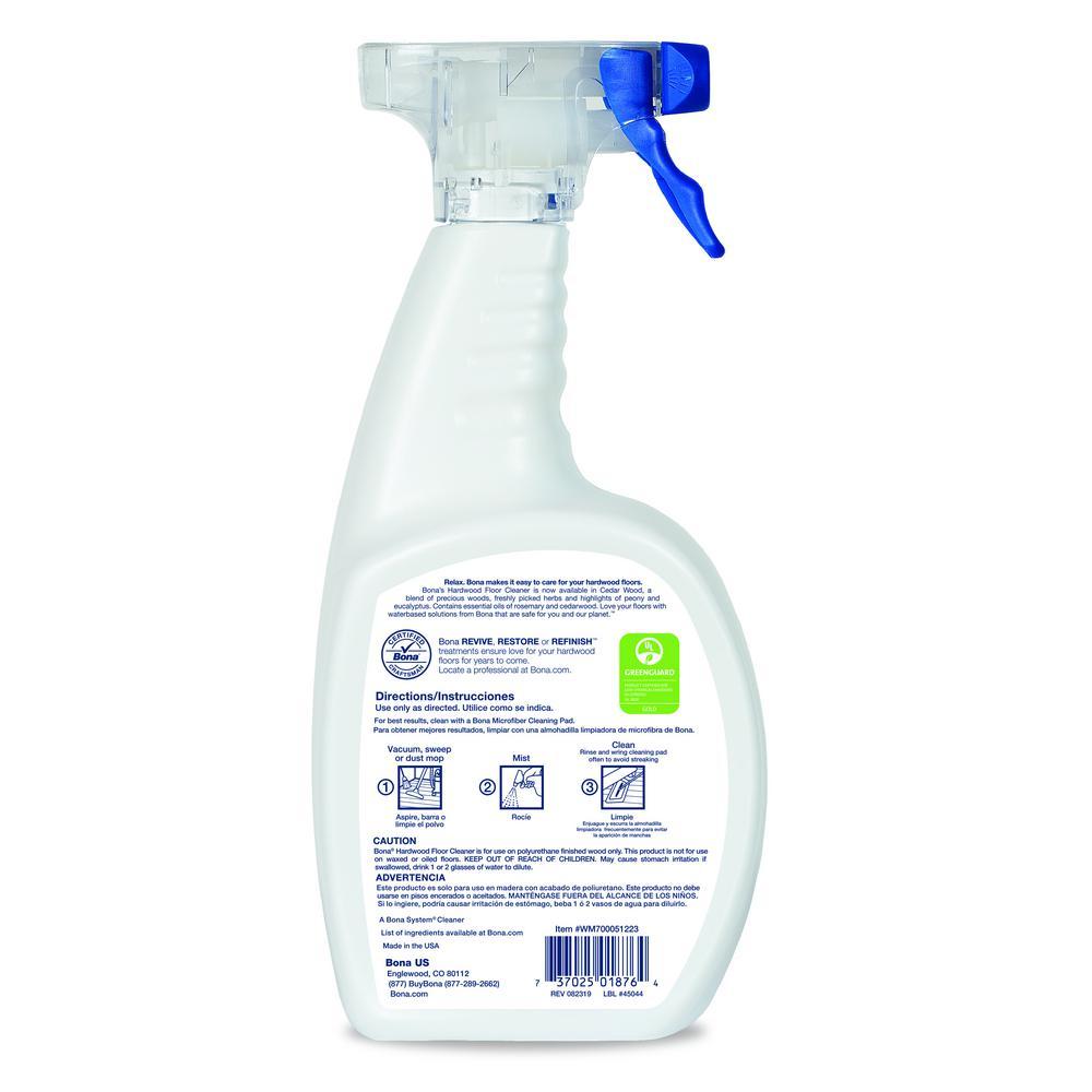 Bona 32 Oz Cedarwood Hardwood Floor Cleaner Wm700051223 The