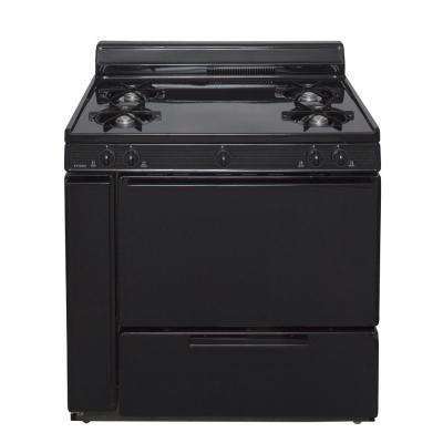 36 in. 3.91 cu. ft. Freestanding Gas Range in Black