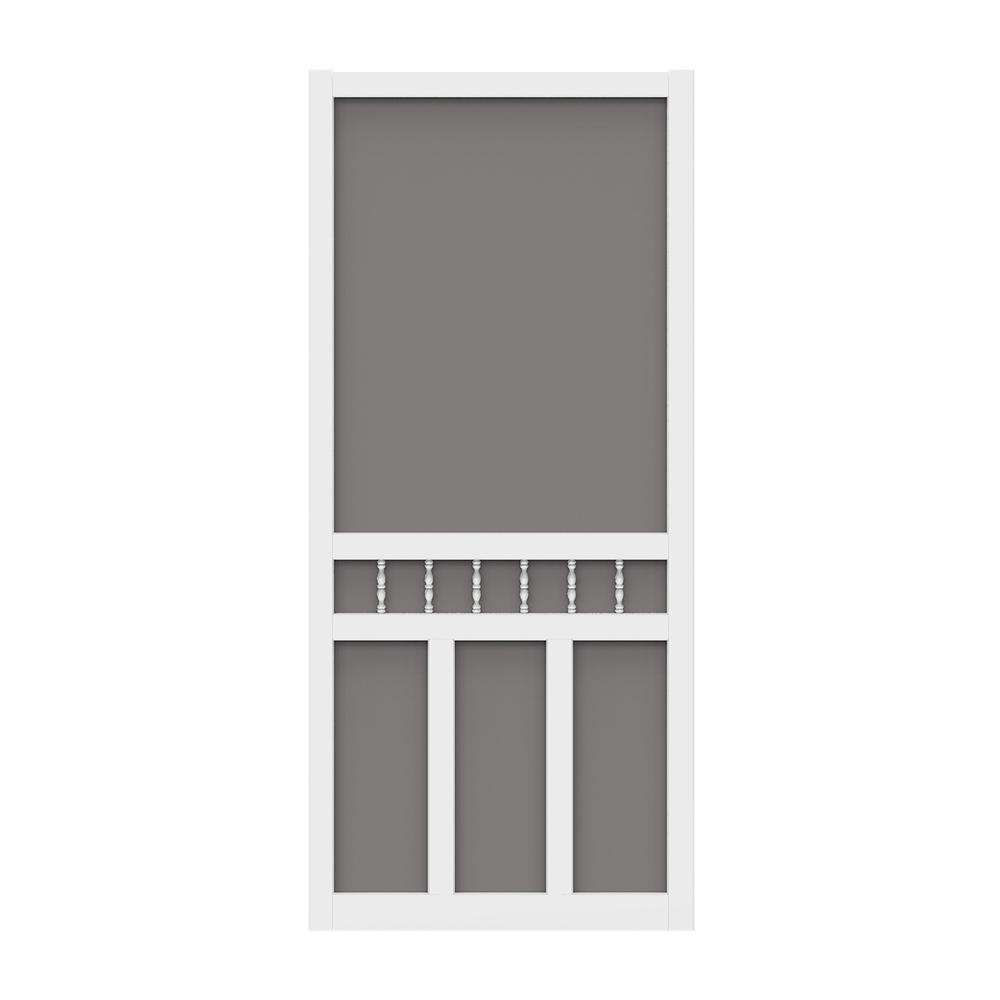 79ae80408a1 Screen Tight 32 in. x 80 in. Waccamaw Vinyl White Screen Door with Hardware