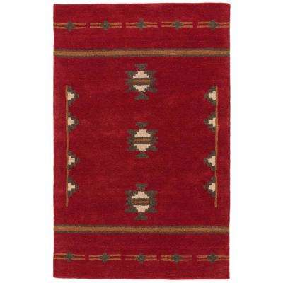 Red Ochre 8 ft. x 10 ft. Tribal Area Rug