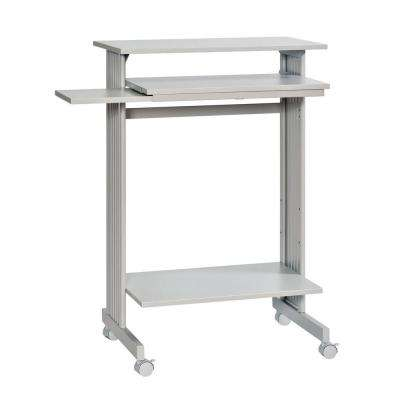 45 in. H x 30 in. W x 20 in. D Stand-Up Height Computer Desk in Grey