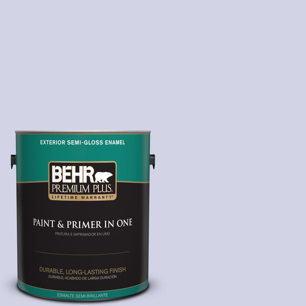 1-gal. #M550-2 Lavender Memory Semi-Gloss Enamel Exterior Paint