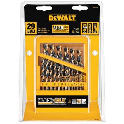 Black and Gold Drill Bit Set (29-Piece)