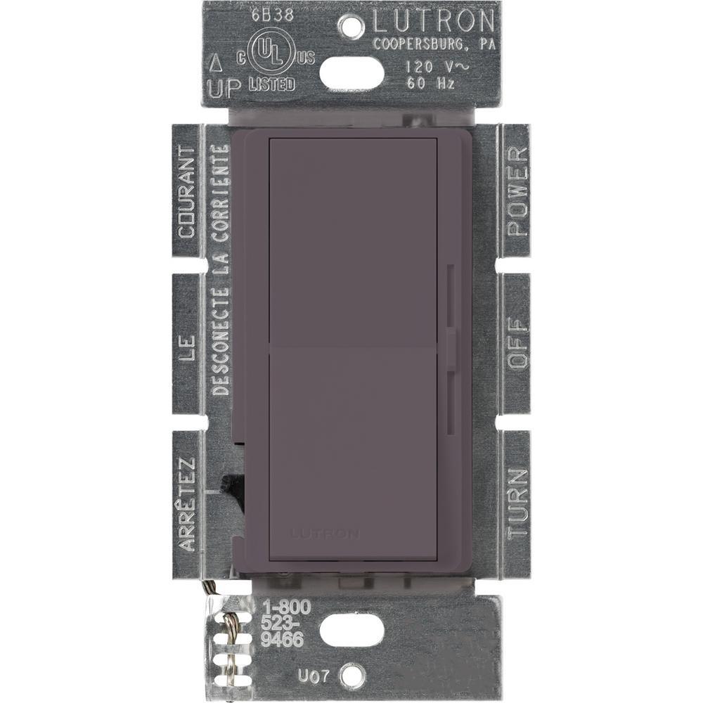Lutron Diva 1000-Watt Single-Pole Preset Dimmer, Plum