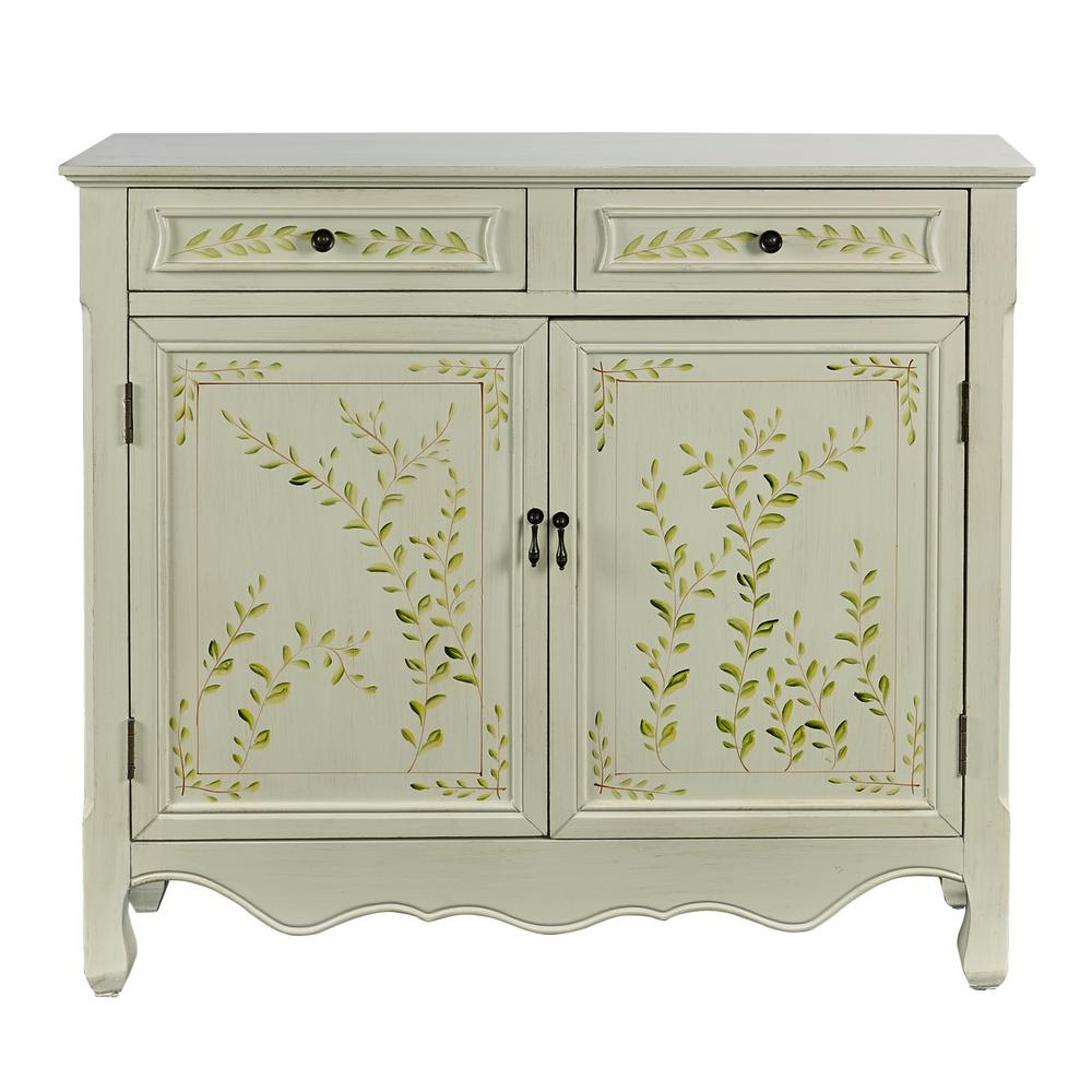 Charmant Powell White Console Table