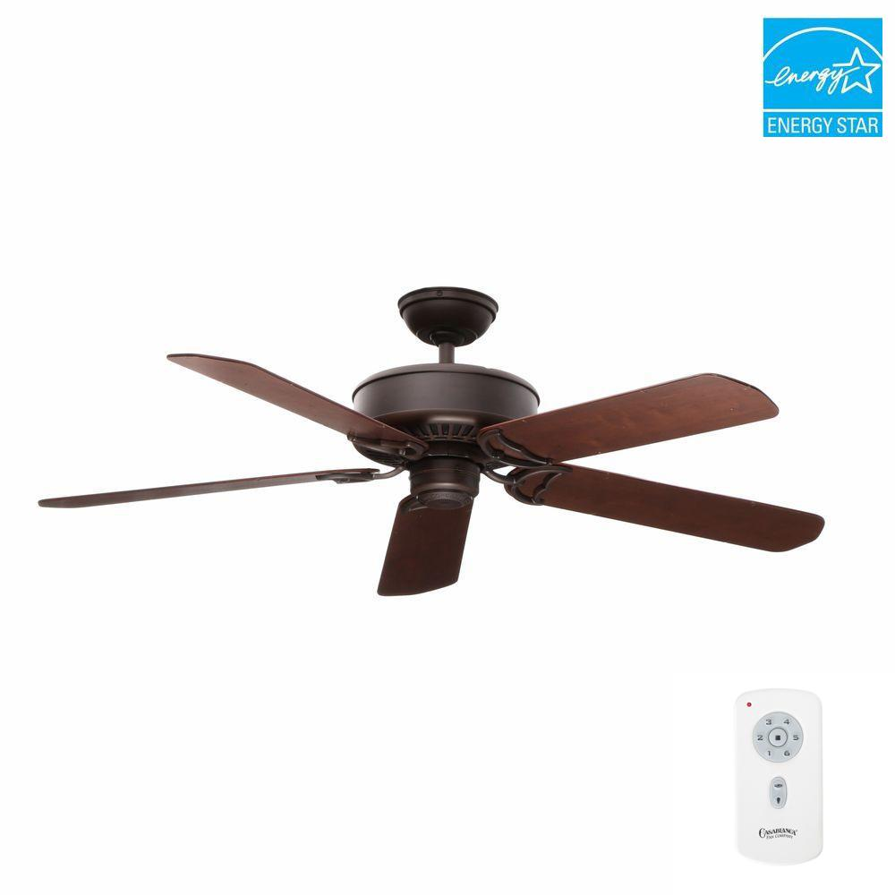 Panama DC 54 in. Indoor Brushed Cocoa Bronze Ceiling Fan with