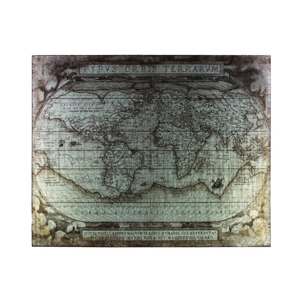 """31.50 in. x 40.25 in. """"Tyous Orbis Terrarum"""" Printed Wall Art"""