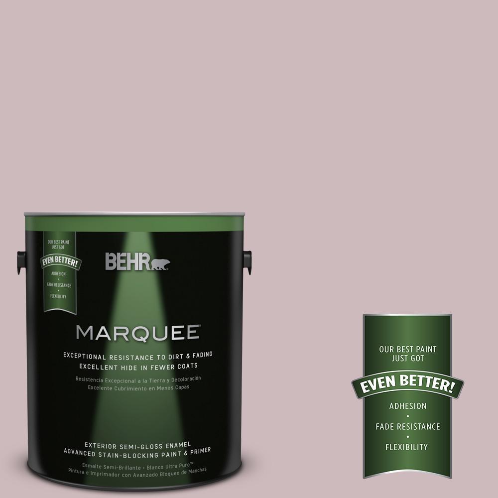 BEHR MARQUEE 1-gal. #N120-3 Mauve it Semi-Gloss Enamel Exterior Paint