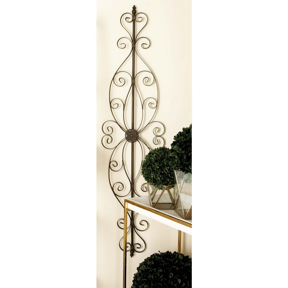 Iron Scrollwork Wall Decor 57 Inx 15 Inold World Bronzefinished Iron Scrollwork Wall