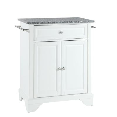 Lafayette Gray Portable Kitchen Island with Granite Top