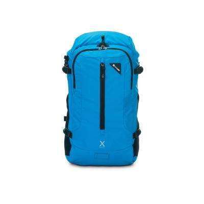 Venturesafe 19 in. Blue Backpack with Laptop Compartment and Raincover
