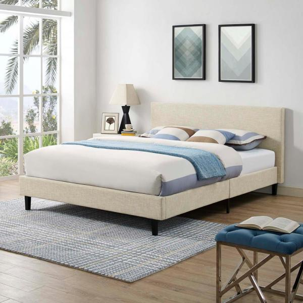 Anya Beige Queen Bed