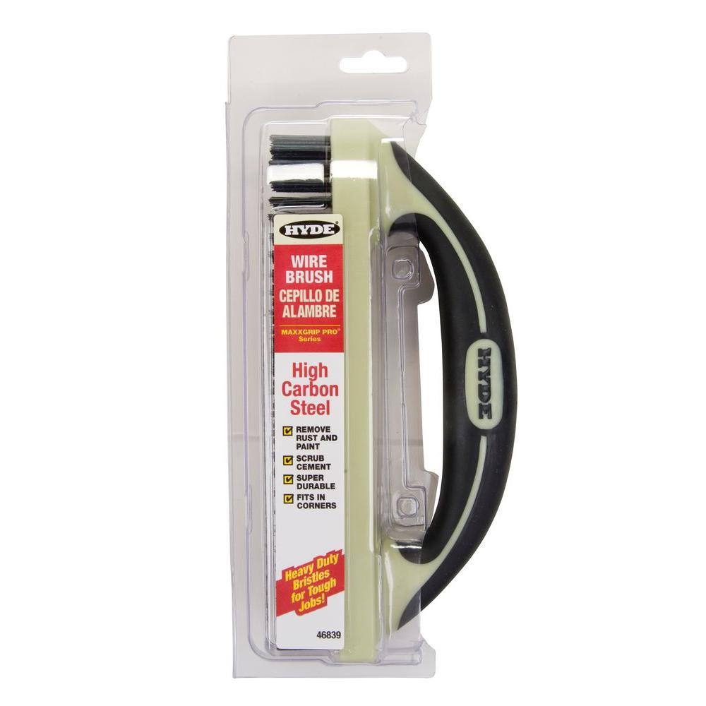 Hyde Maxxgrip Pro 9 in. Wire Brush