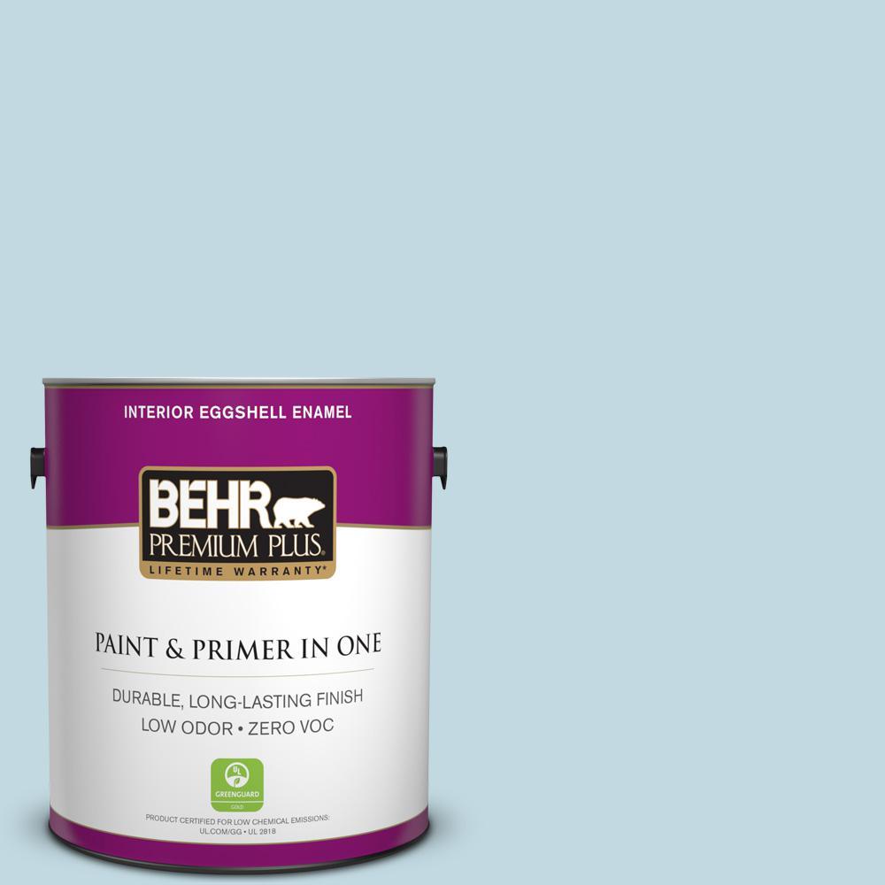 BEHR Premium Plus 1-gal. #S480-1 Rain Dance Eggshell Enamel Interior Paint