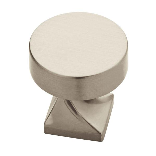 Everly 1-1/8 in. (29 mm) Satin Nickel Round Cabinet Knob