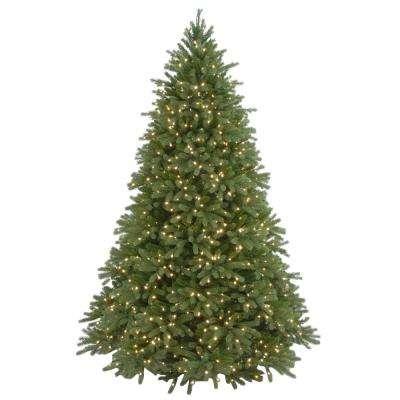 7-1/2 ft. Feel Real Jersey Fraser Fir Hinged Artificial Christmas Tree with 1250 Clear Lights