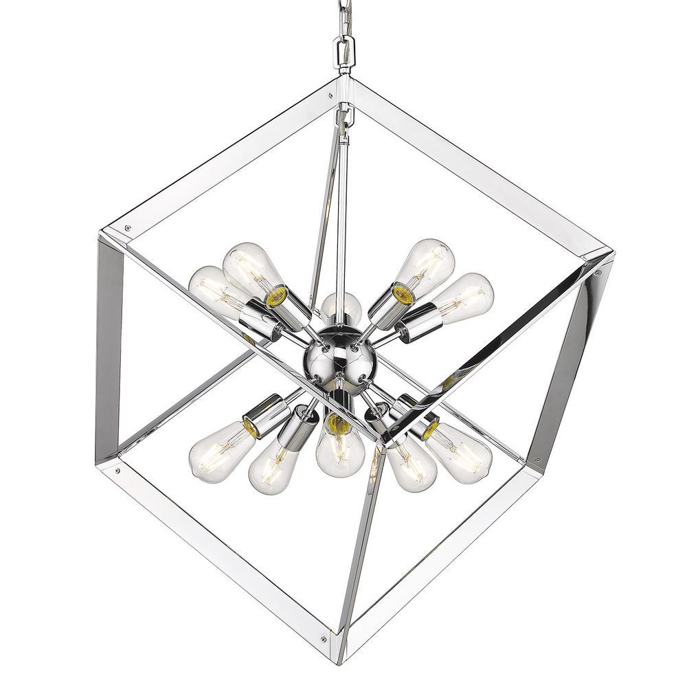 Architect 10-Light Chrome Chandelier