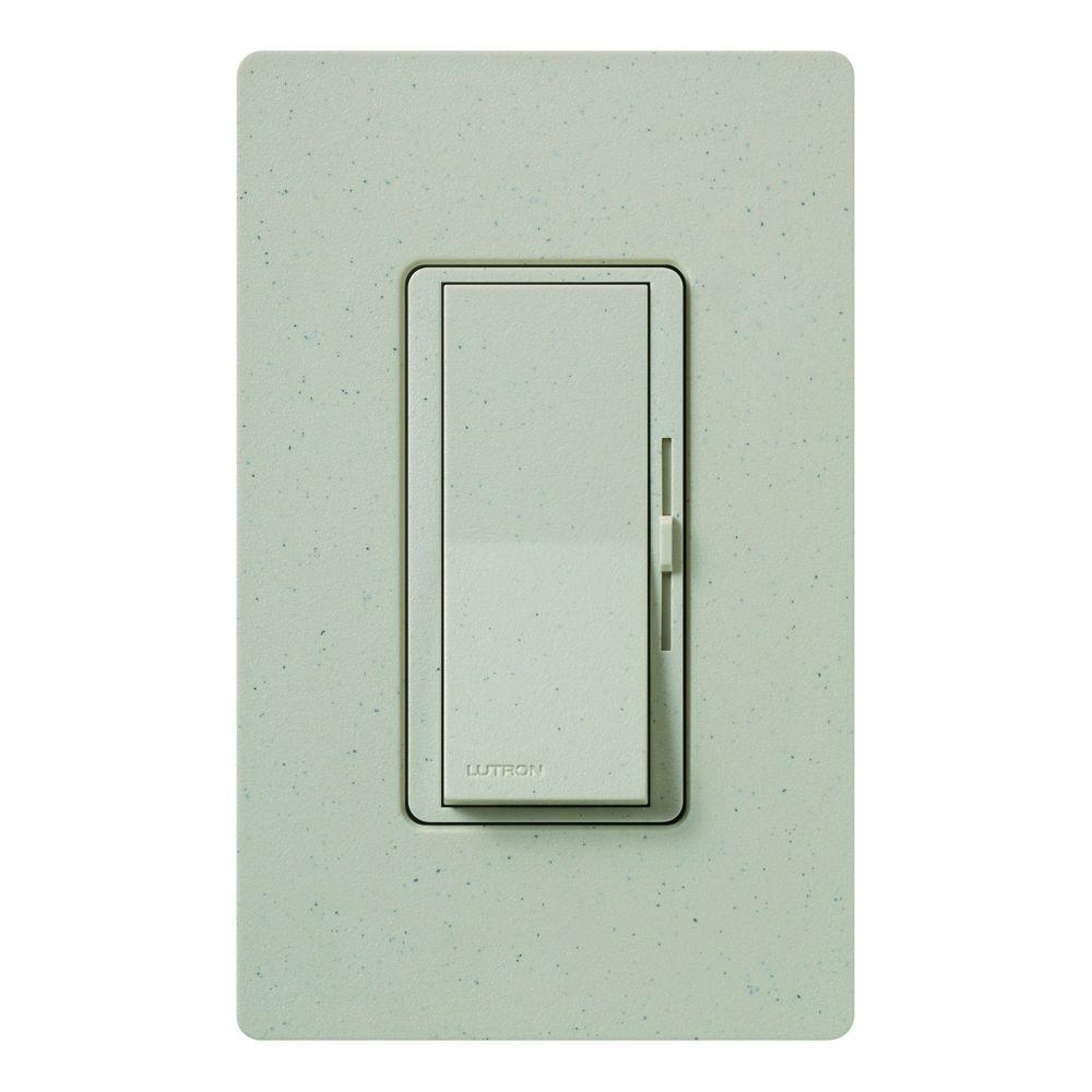 Diva Dimmer for Incandescent and Halogen, 600-Watt, Single-Pole or 3-Way, Stone