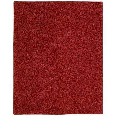 Zen Red 8 ft. x 10 ft. Area Rug