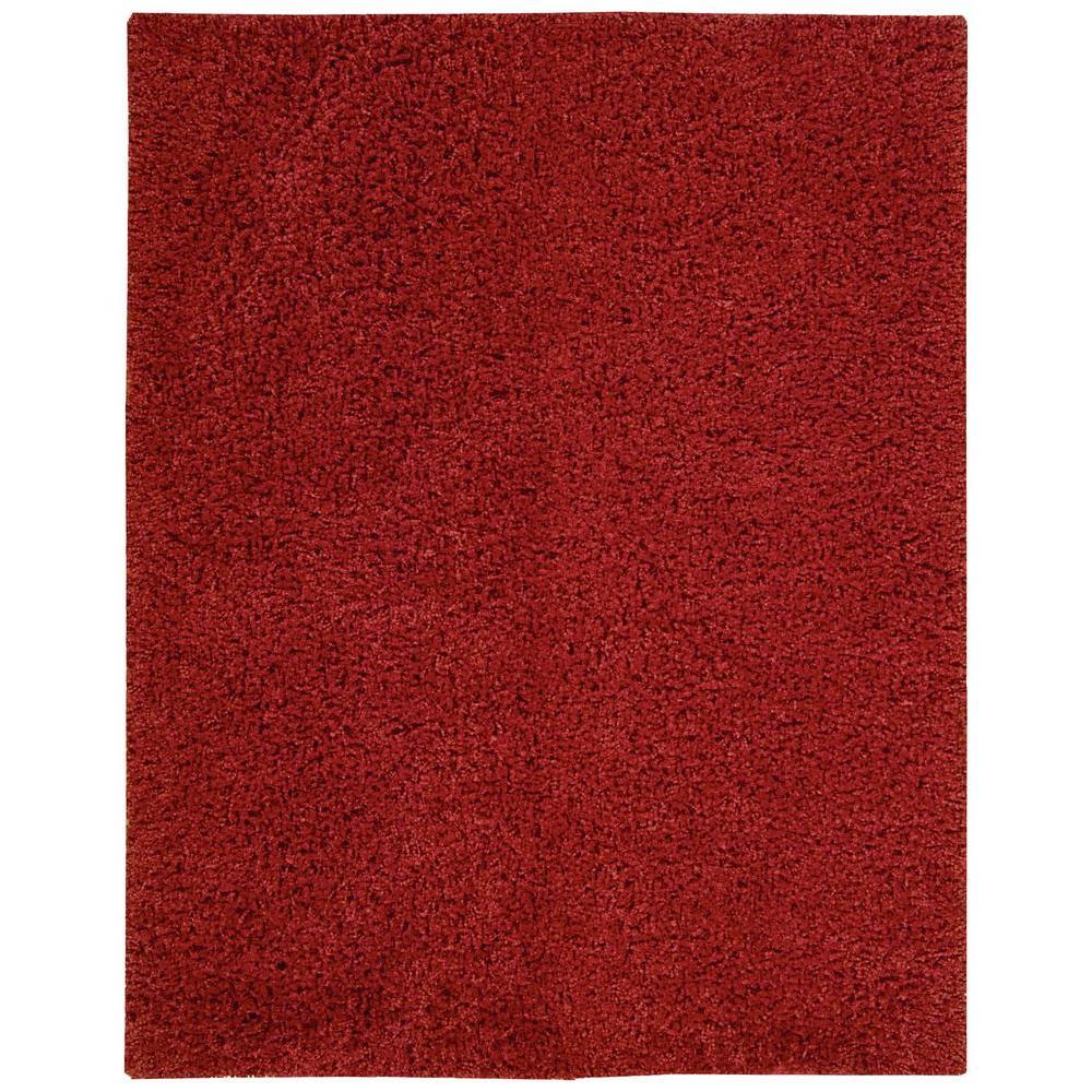 Zen Red 3 ft. 6 in. x 5 ft. 6 in. Area Rug