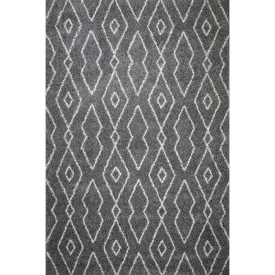 Logan Shag Area Rug (8' x 10') in Dark Grey