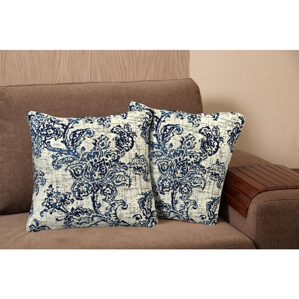 Home Dynamix Chenille 20 in. Blue Decorative Pillow-CH8012-309 - The Home Depot