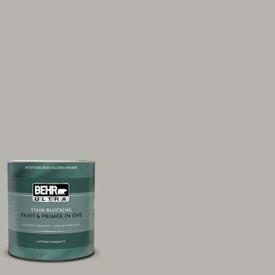 1 qt. #PPU25-08 Heirloom Silver Semi-Gloss Enamel Interior Paint and Primer in One